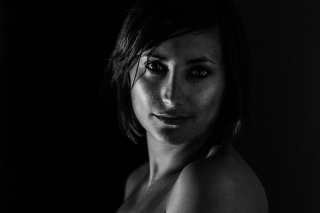 Portret zwat wit tamara topless